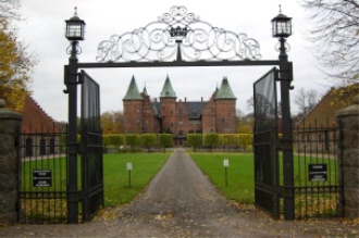 Slottets grindar, tillverkade av smeden Sven Holmberg